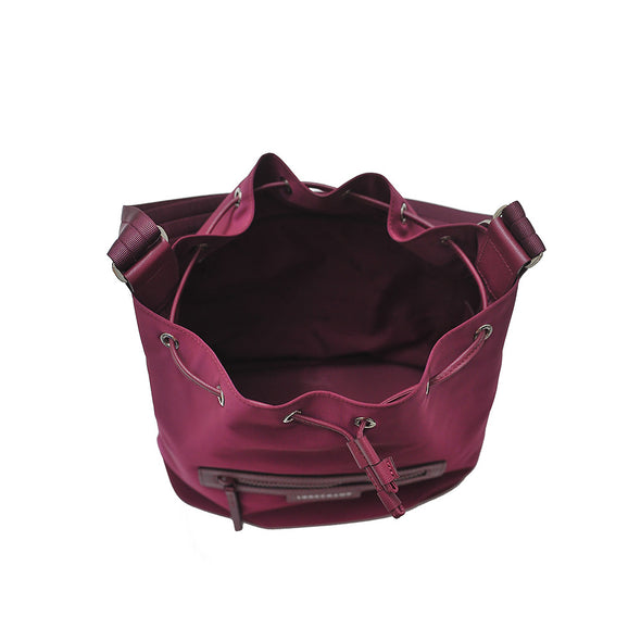 Blackcurrent Le Pliage Neo Bucket Bag (Rented Out)
