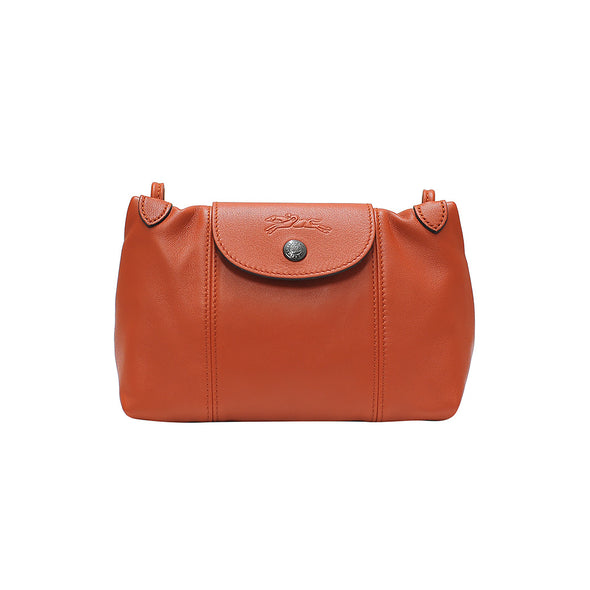 Rust Le Pliage Cuir Crossbody Bag