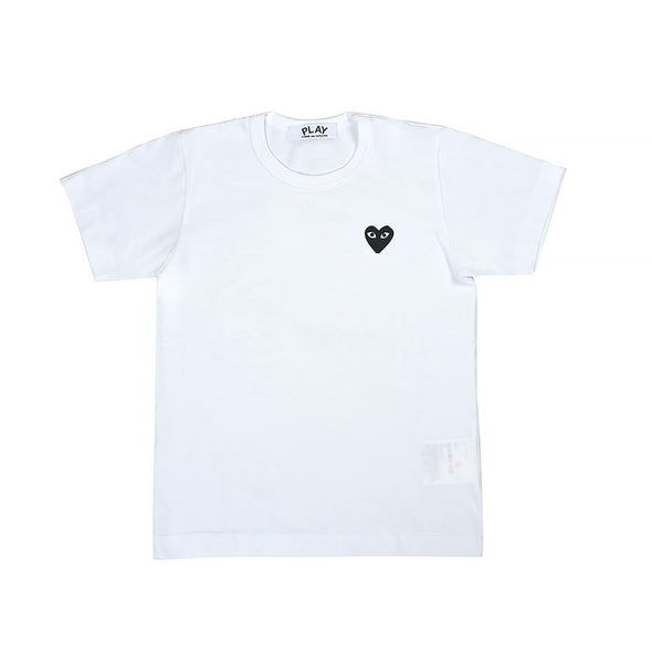 CDG Play Black Heart Logo White Tee (Women)