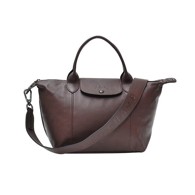 Brandy Le Pliage Cuir Shopping Tote (Logo Strap)