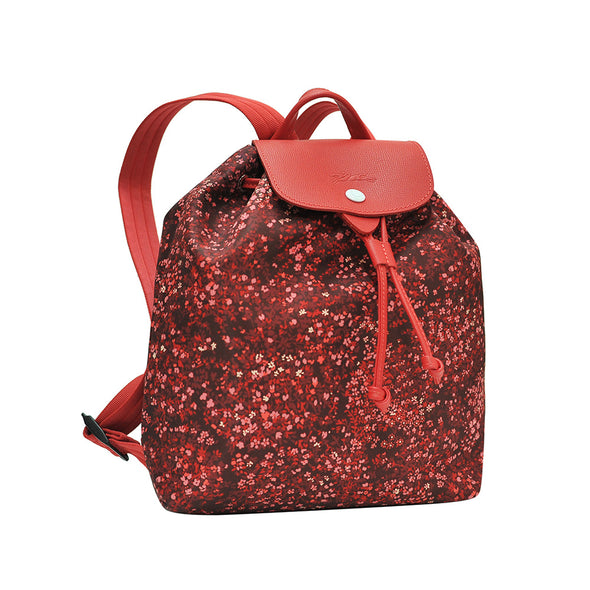 Red Le Pliage Fleurs Backpack