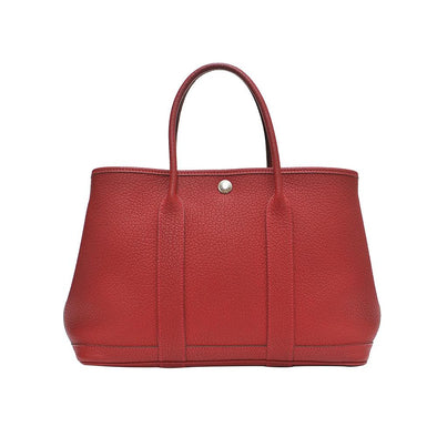 Red Clemence Leather Garden Party PM Tote