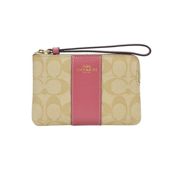 Rouge Colourblock Signature Canvas Small Wristlet