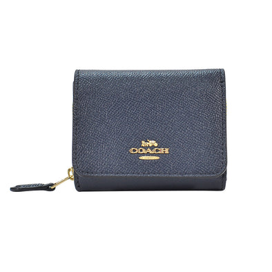 Midnight Leather Small Trifold Wallet