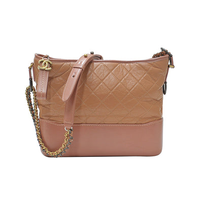 Pink Aged Calfskin Gabrielle Hobo Bag (Rented Out)