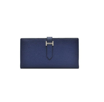 Blue Bearn Soufflet Veau Epsom Wallet (Rented Out)