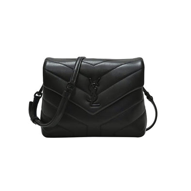 Black Matelasse Leather Loulou Toy Bag (Rented Out)