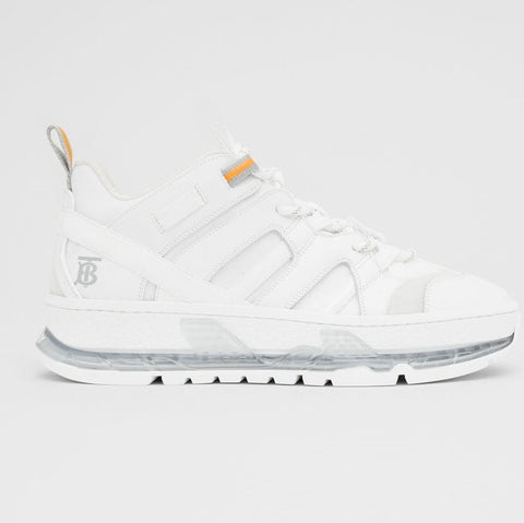 Burberry union sneakers in white