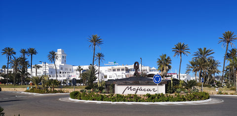 Mojacar Pueblo, famous white village on the foothills of the Sierra Cabrera mountains overlooking Mojacar beach resort