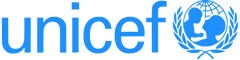 UNICEF logo featuring mother lifting her child emblem