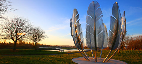 Kindred spirits memorial cork Ireland commemorates donations received from Choctaw native Americans during the Irish famine