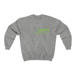 JTEESinc unisex sports grey cotton-mix sweat-shirt features the SPIRIT positivity is power inspirational affirmation print