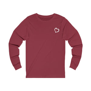 cardinal unisex jersey triblend Long Sleeve T Shirt from the Pocket Prints collection features JTEESinc Tiny heart design