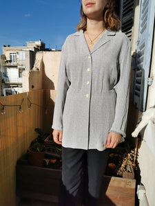 Sublime blouse Gérard Darel gris perle chiné