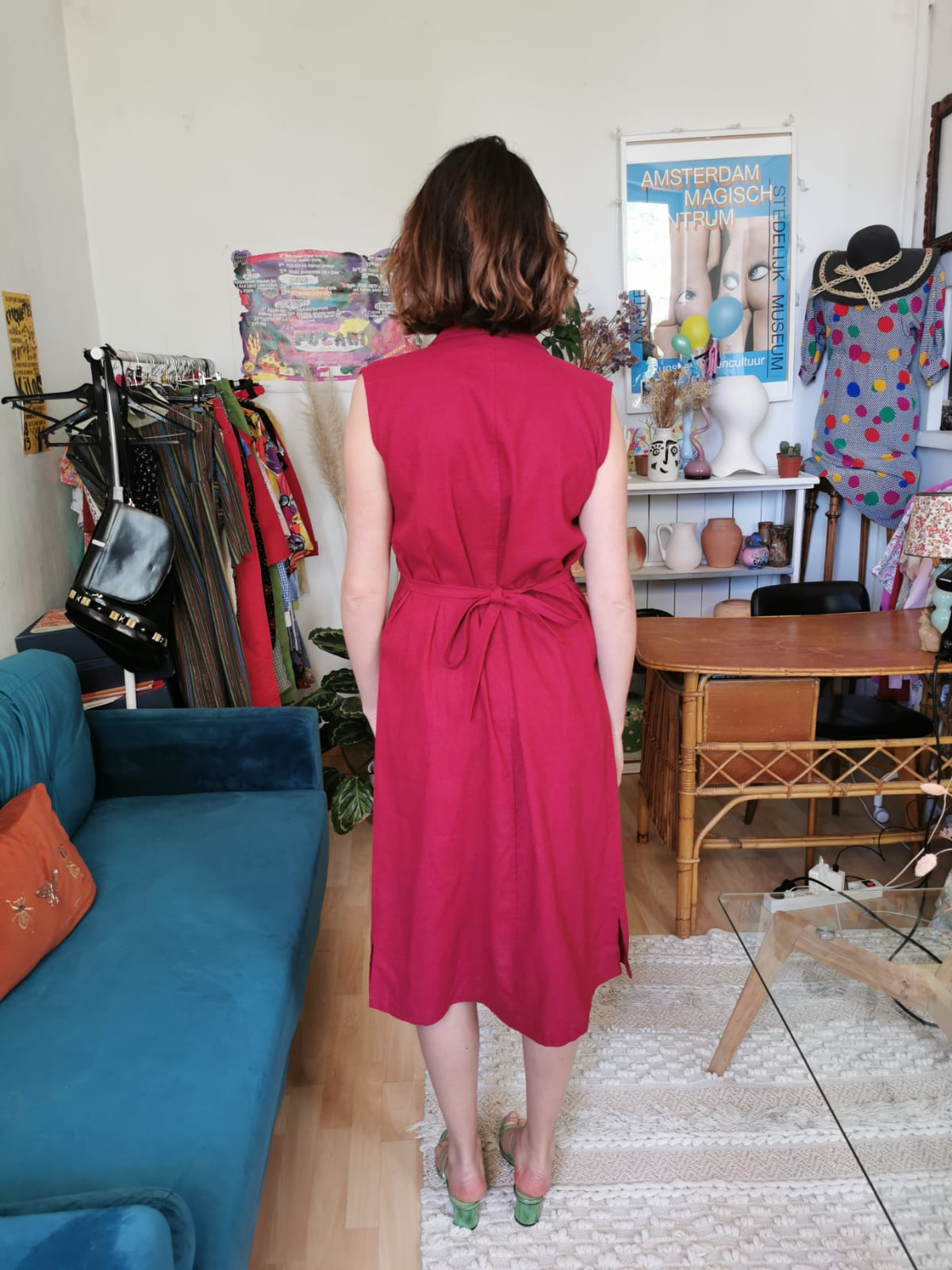 Sublime robe vintage rouge