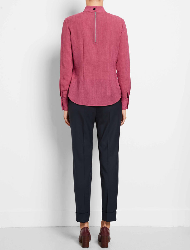 pink workwear blouse