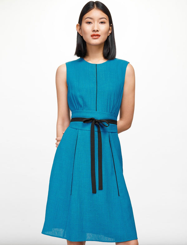 Rosie Sleeveless Knee Length Dress - Turquoise