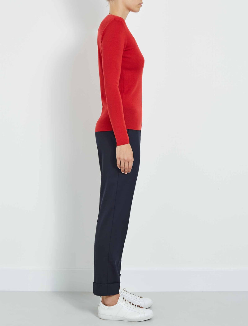 merino wool red jumper