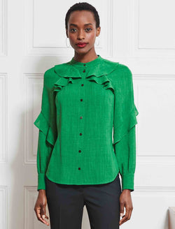 long sleeve ruffle shirt