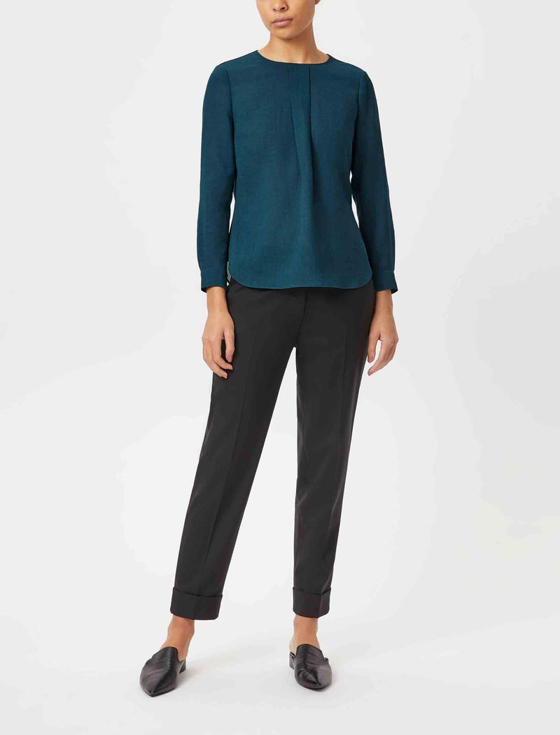 Petrol Blue Blouse UK