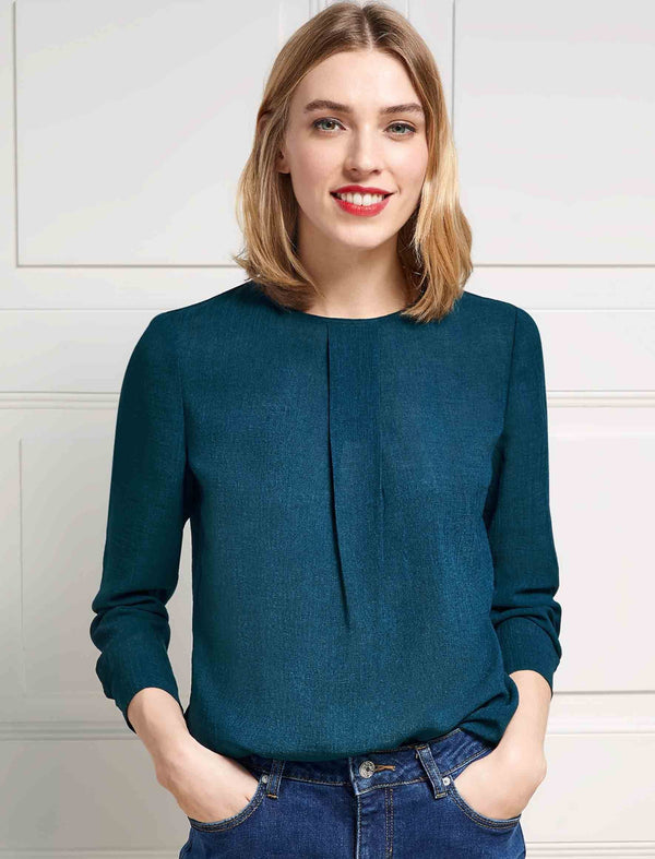 Petrol Blue Blouse