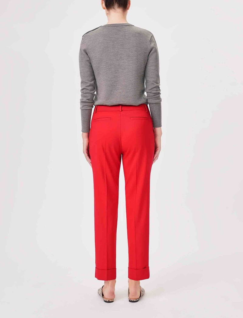 wool blend workwear trousers women