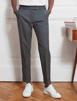 wool trousers grey
