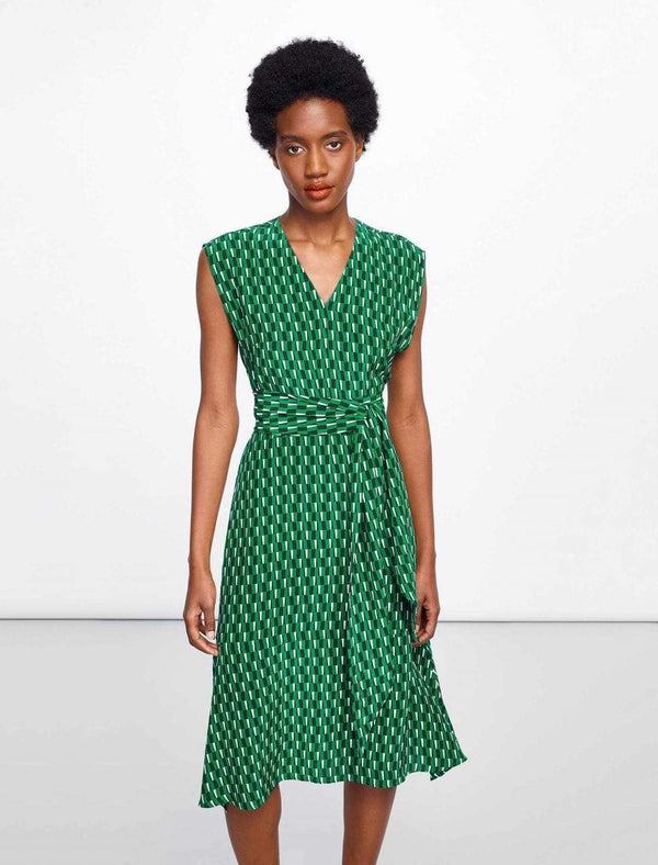 dipped hem midi dress