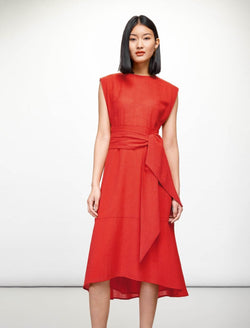 Freya Midi Dress - Crimson