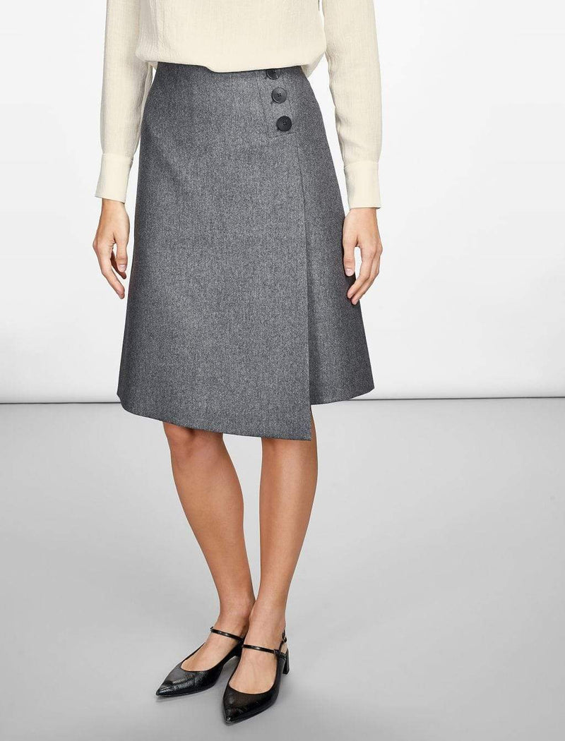 grey workwear skirt