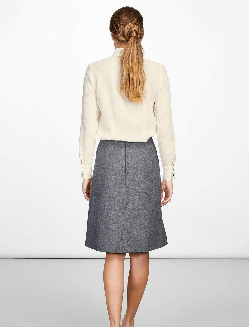 grey wool work skirt