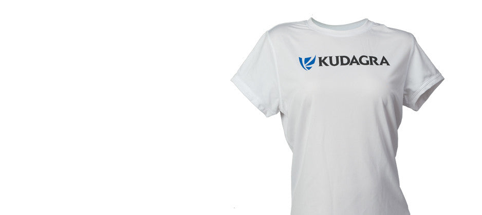 KUDAGRA Women's White Performance Shirt