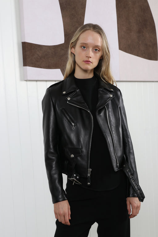 Schott NYC Perfecto Leather Moto Jacket Black