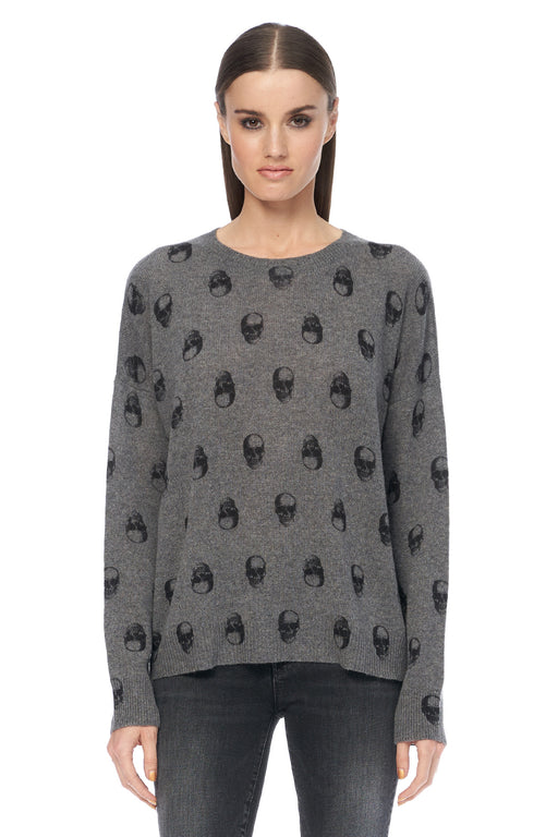 360-Cashmere-Cammeline-Skull-Pullover-Mid-Heather-Grey-Black