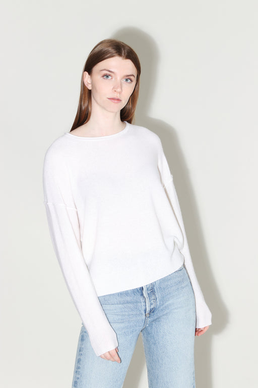 360 Cashmere Adelyn Crew Pullover Chalk