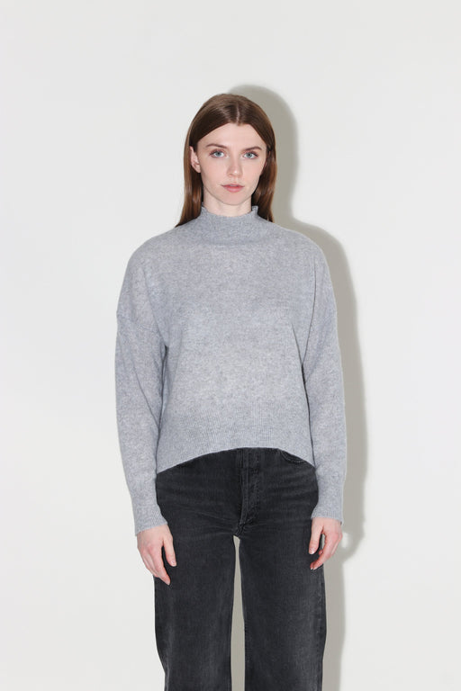 360 Cashmere Emily Mock Neck Steel