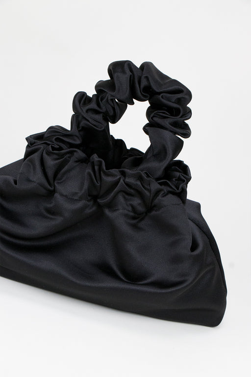 A-Bronze-Age-Halo-Scrunchie-Bag-Black