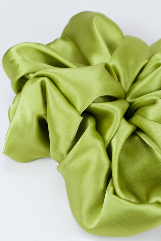 A-Bronze-Age-Oversized-Silk-Scrunchie-Avocado