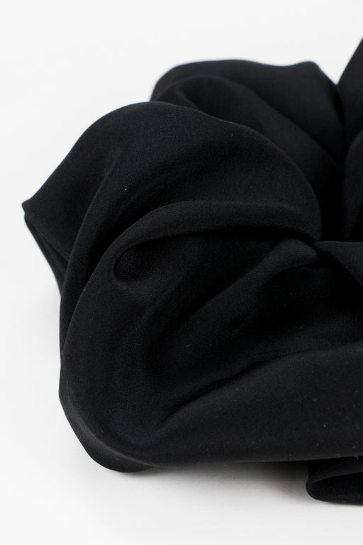 A-Bronze-Age-Oversized-Silk-Scrunchie-Black