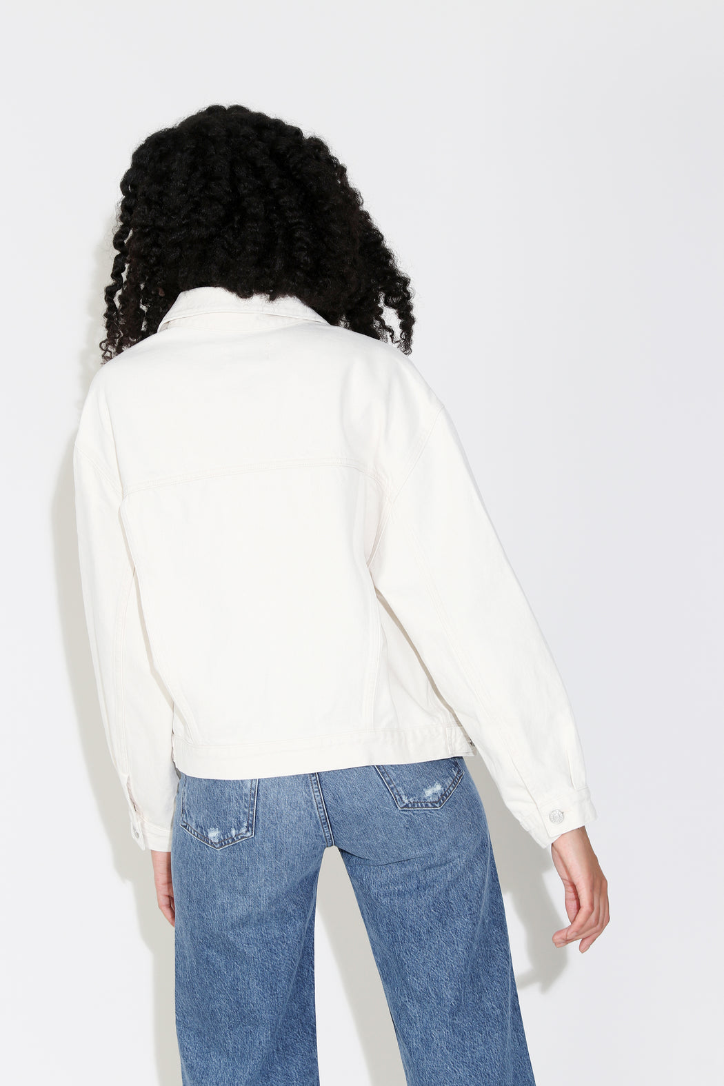 Agolde Charli Denim Jacket in Paper