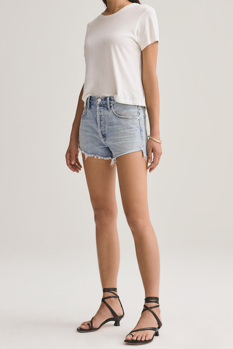AGOLDE Parker Vintage Cut Off Short in Riptide