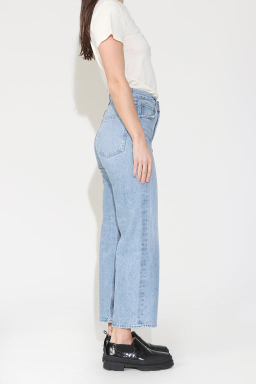 Agolde Ren High Rise Wide Leg Jean in Blur