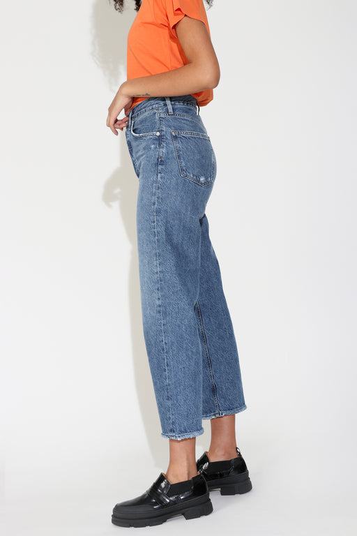 Agolde Ren High Rise Wide Leg Jean in Censor