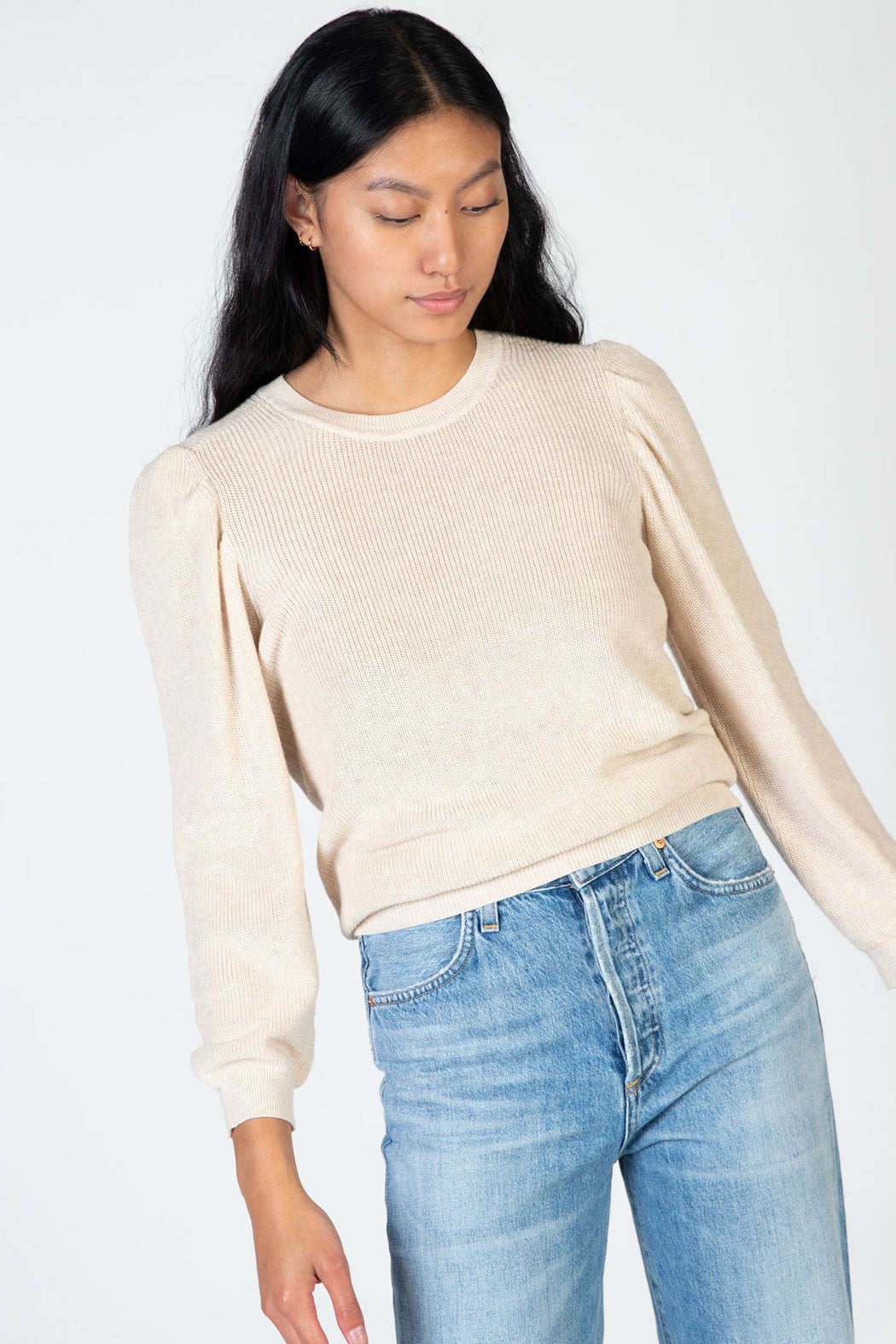 Autumn-Cashmere-34-Puff-Sleeve-Shaker-Crew-Natural