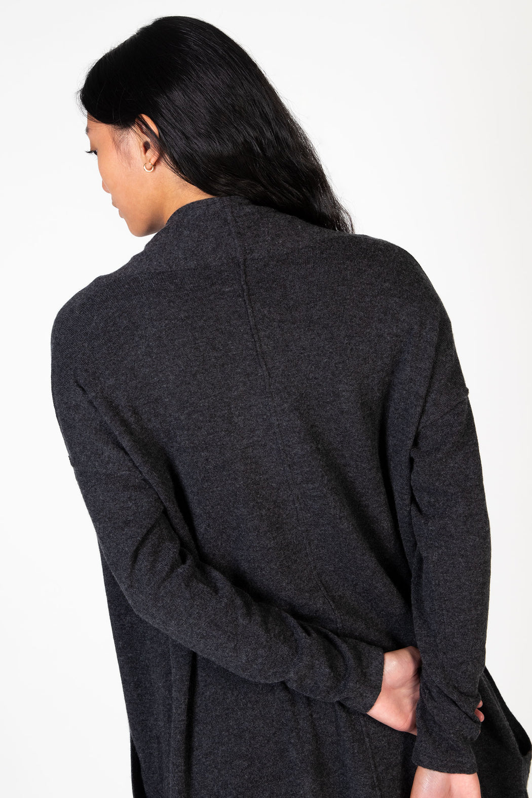 Autumn-Cashmere-Bishop-Sleeve-Open-Cardigan-Cement