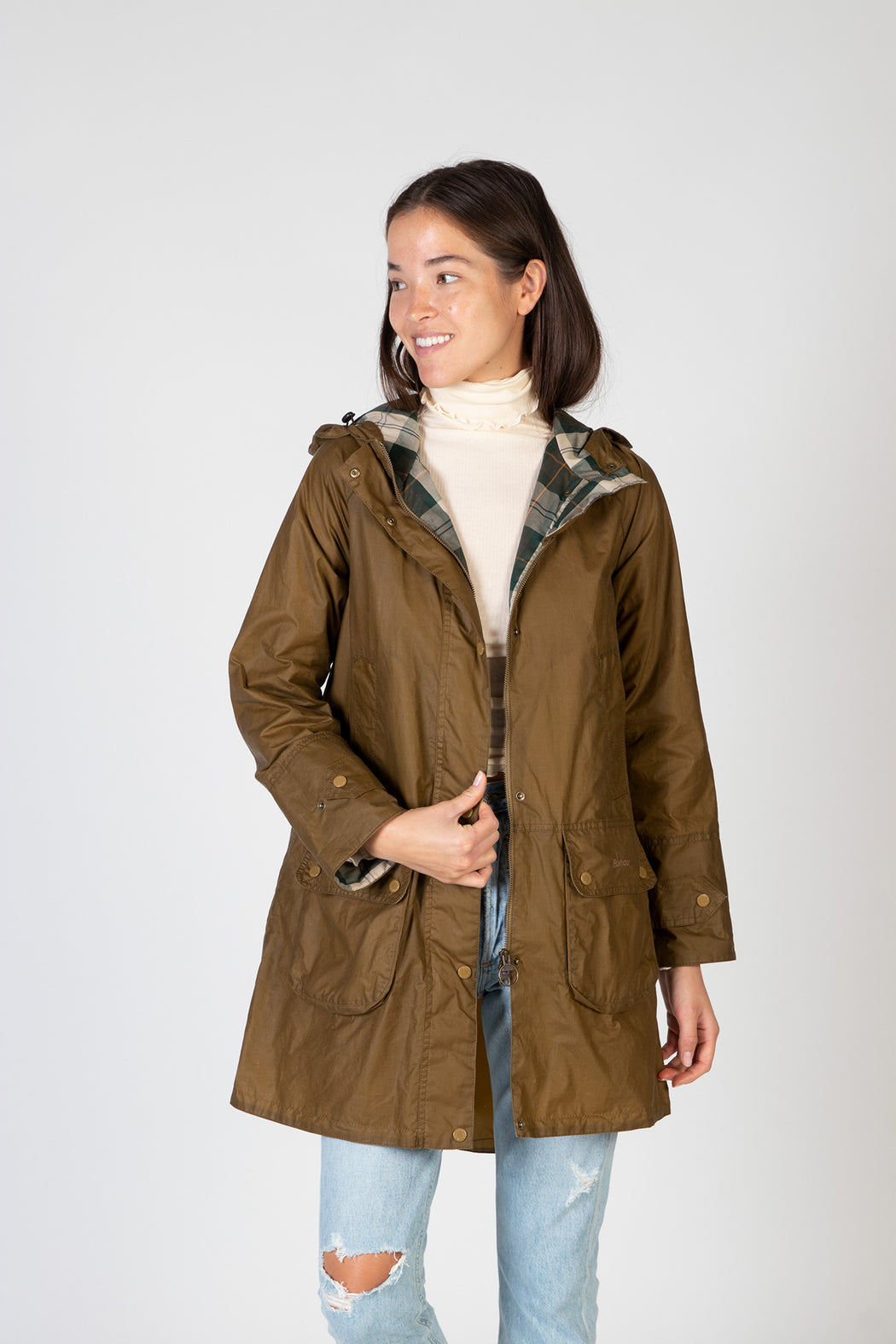 Barbour-Maddison-Waxed-Jacket-Sand