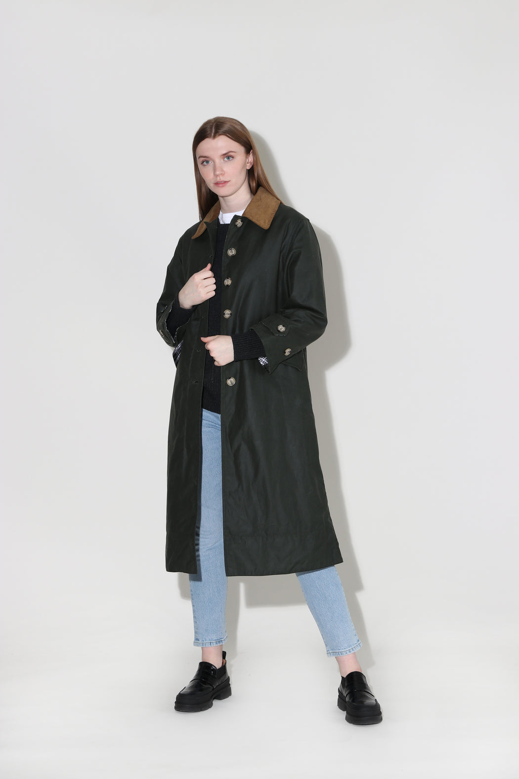 Barbour Alexa Chung Maisie Waxed Cotton Jacket Duffle Bag