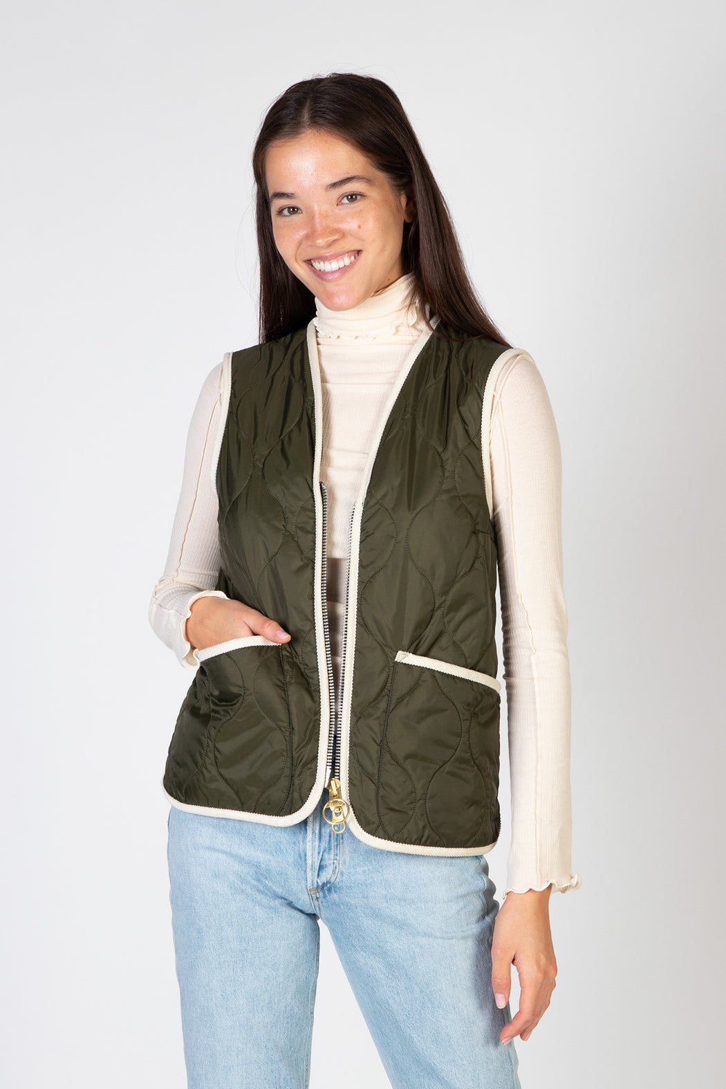 Barbour-Nora-Gilet-Olive
