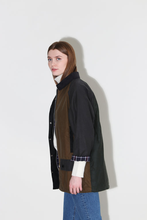 Barbour Alexa Chung Patch Waxed Cotton Jacket Patchwork