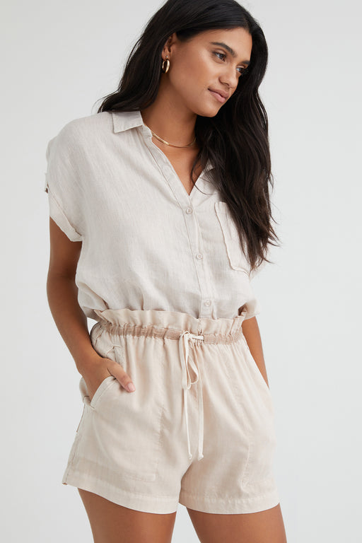 Bella-Dahl-Short-Sleeve-Pocket-Button-Down-Sandstone
